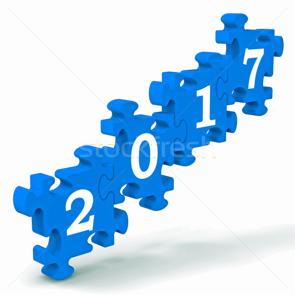 2017 Puzzle Shows Future Year's Resolutions Stock photo © stuartmiles