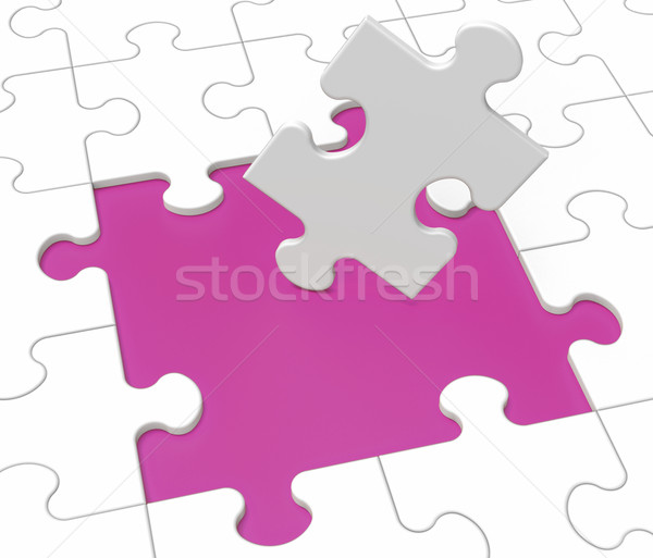 Missing Puzzle Pieces Showing Loss Stock photo © stuartmiles