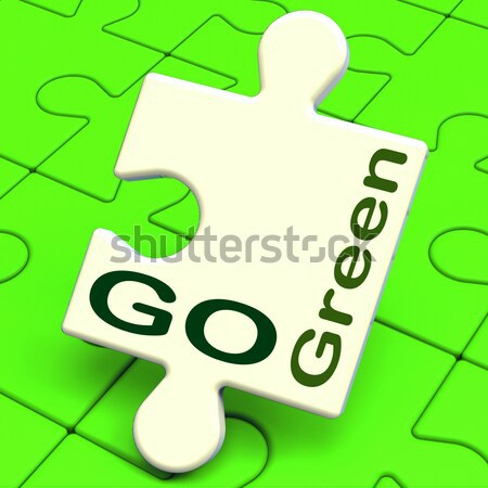 Go Green On Screen Showing Protecting The Planet Stock photo © stuartmiles
