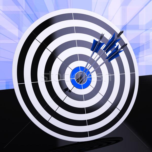 Darts nyerő stratégia kiválóság mutat precizitás Stock fotó © stuartmiles