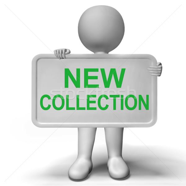 新しい コレクション にログイン モダンなスタイル キャンペーン ストックフォト © stuartmiles