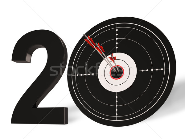 20 Shows 20th Anniversary Or Twentieth Birthdays Stock photo © stuartmiles