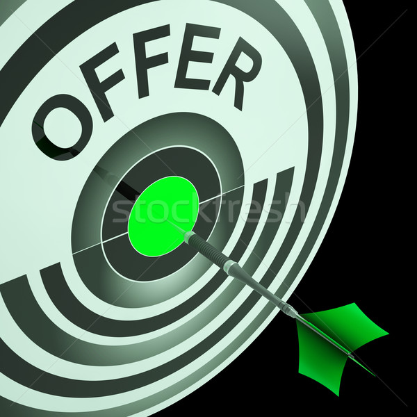 Offer Target Means Cheap Reductions Stock photo © stuartmiles