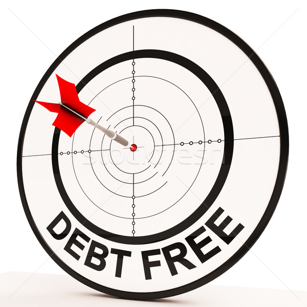 Debt Free Target Shows Economic Financial Success Stock photo © stuartmiles