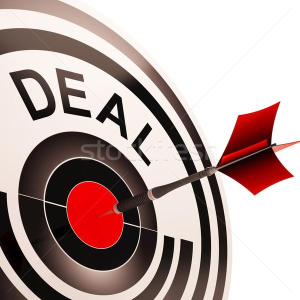 Deal koopje overeenkomst tonen business Stockfoto © stuartmiles