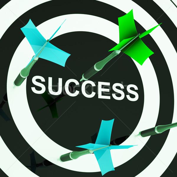 Succes mislukte doelen jobs Stockfoto © stuartmiles