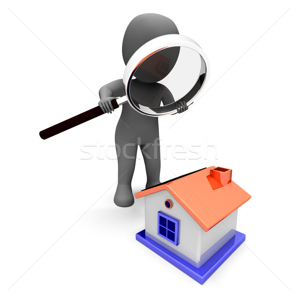 House Character Shows Search Or Look For House Stock photo © stuartmiles