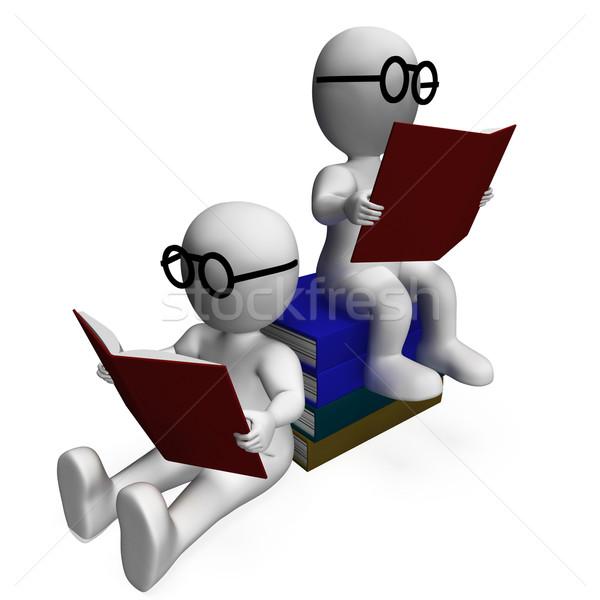 学生 読む 図書 アカデミック 勉強 学校 ストックフォト © stuartmiles