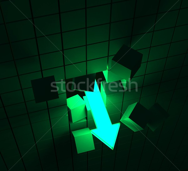 Downward Arrow Shows Decline Or Downturn Stock photo © stuartmiles