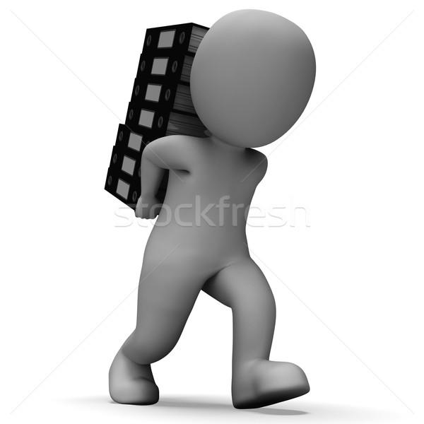 Szervez akták szervezett lemezek papírmunka információ Stock fotó © stuartmiles