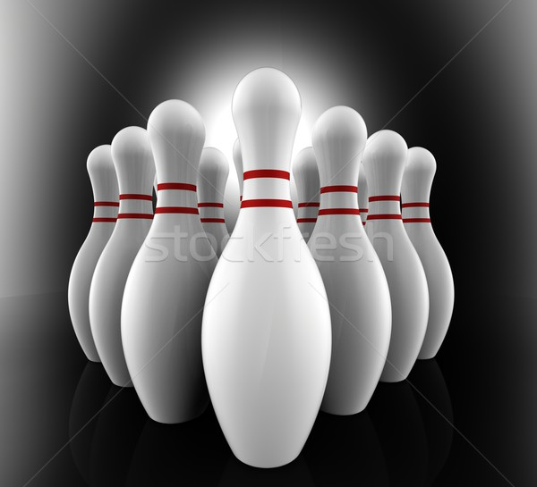 Bowling Pins Show Skittles Alley Stock photo © stuartmiles
