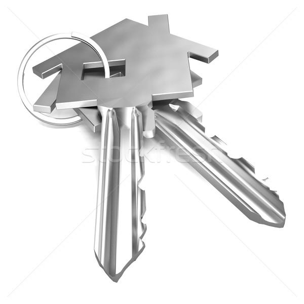 домой ключами дома безопасности заблокированный Сток-фото © stuartmiles