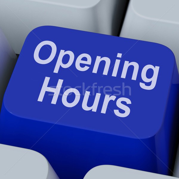 Opening Hours Key Shows Retail Business Open Stock photo © stuartmiles