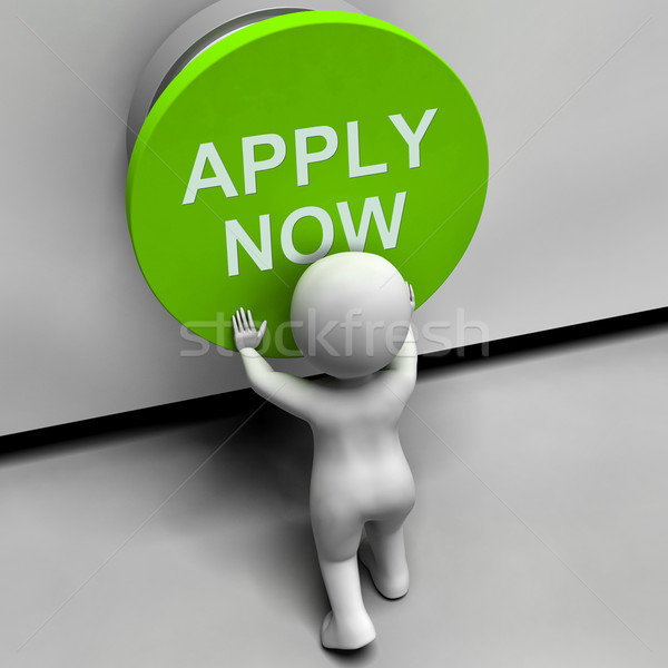 Apply Now Button Shows Job Opening And Application Stock photo © stuartmiles