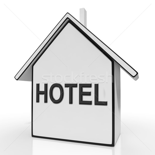 Hotel House Shows Holiday Accommodation And Units Stock photo © stuartmiles