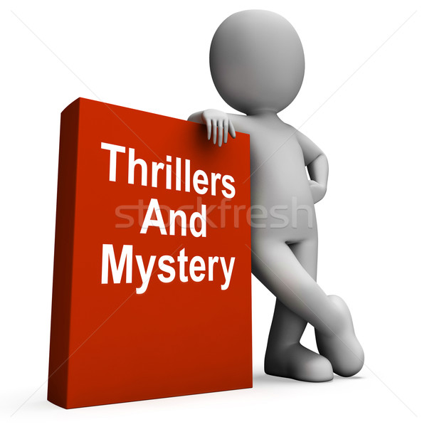 Thrillers And Mystery Book With Character Shows Genre Fiction Bo Stock photo © stuartmiles