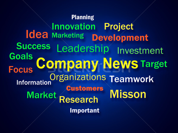 Company News Brainstorm Shows Whats New In Business Stock photo © stuartmiles