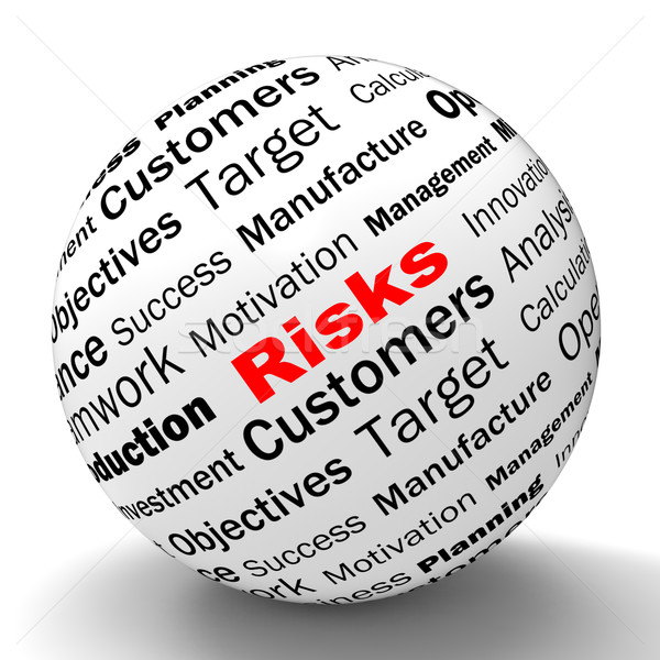 Risks Sphere Definition Shows Insecurity And Financial Risks Stock photo © stuartmiles