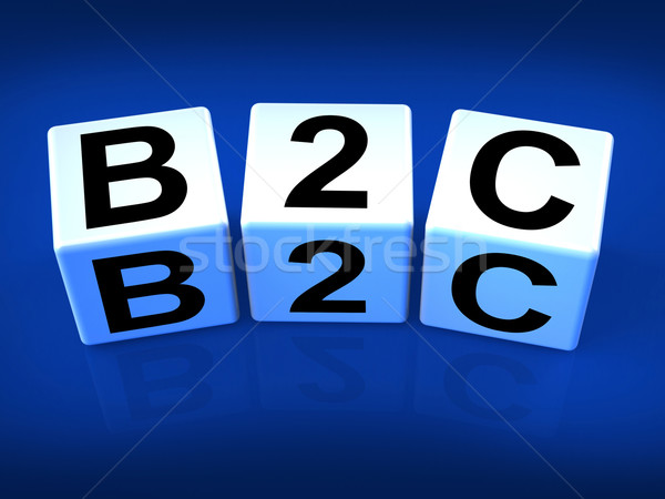 B2C Blocks Represent Business and Commerce or Consumer Stock photo © stuartmiles
