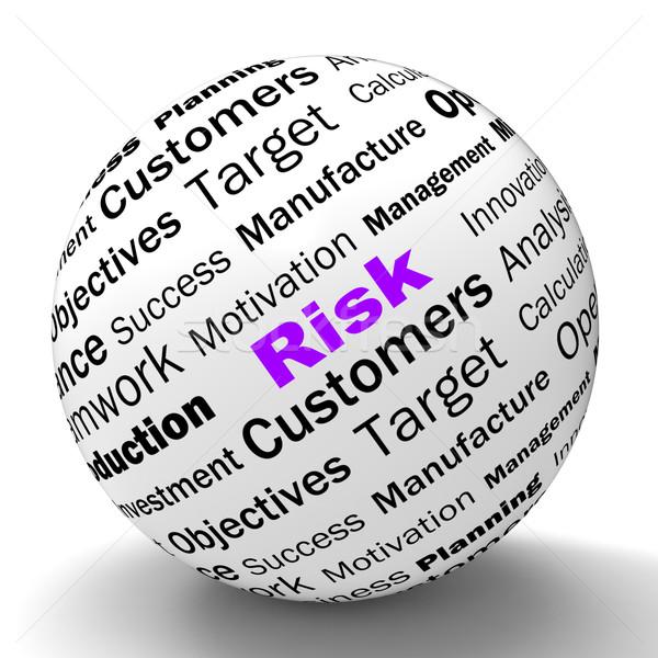 Risk Sphere Definition Means Dangerous And Unstable Stock photo © stuartmiles