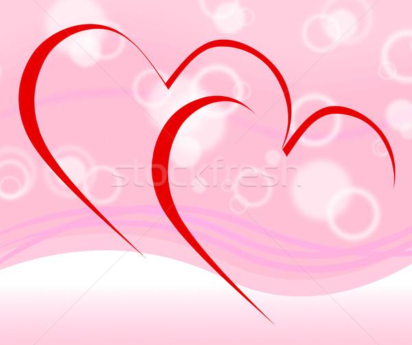 Coeurs datant proposition engagement Photo stock © stuartmiles
