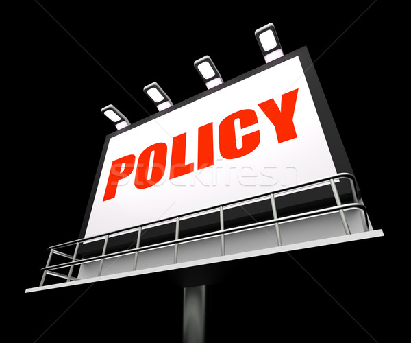 Policy Media Sign Means Code Protocol and Guidelines Stock photo © stuartmiles