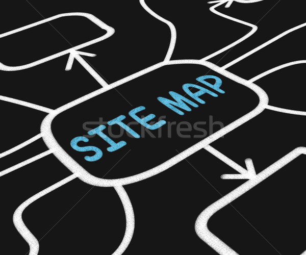 Site Map Diagram Means Navigating Around Website Stock photo © stuartmiles