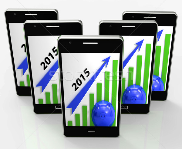 Graph 2015  Shows Rising Sales And Income Stock photo © stuartmiles