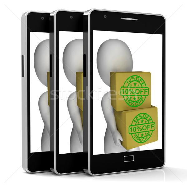 Ten Percent Off Phone Show 10 Lower Price Stock photo © stuartmiles