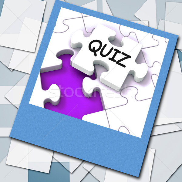 Quiz Photo Means Online Exam Or Challenge Questions Stock photo © stuartmiles