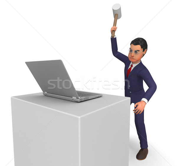 Businessman Angry Means Bitter Company And Computing Stock photo © stuartmiles