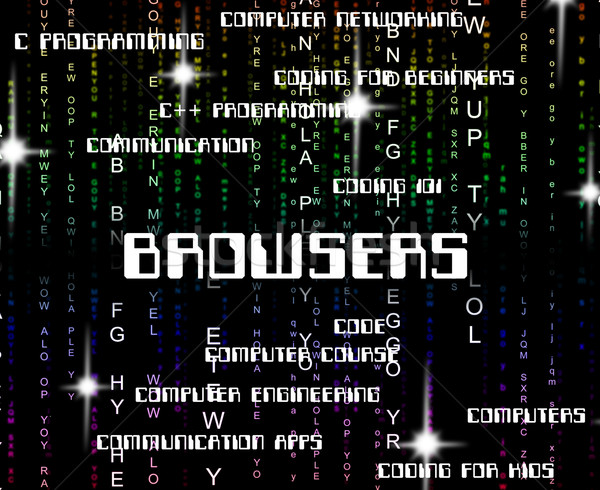 Browsers Word Shows Computer Webpage And Computers Stock photo © stuartmiles