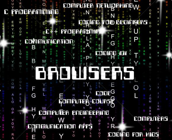 Szó számítógép weboldal számítógépek szavak Stock fotó © stuartmiles