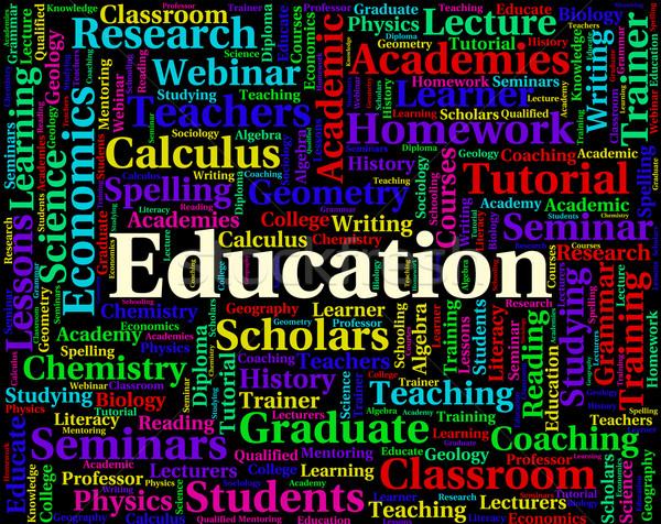 Education Word Means Development Educate And Tutoring Stock photo © stuartmiles