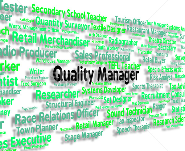 Quality Manager Shows Excellent Guarantee And Job Stock photo © stuartmiles