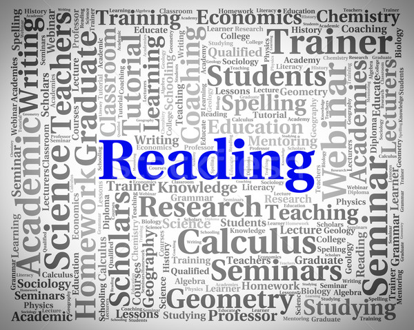 Reading Word Represents Look Through And Peruses Stock photo © stuartmiles