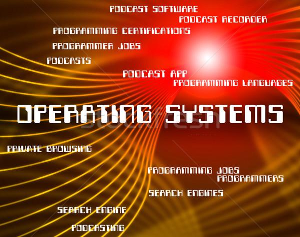 Pc technologie tekst betekenis netwerk digitale Stockfoto © stuartmiles