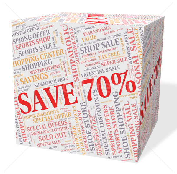 Seventy Percent Off Shows Discounts Sale And Sales Stock photo © stuartmiles