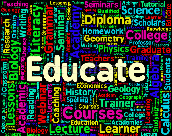 Educate Word Represents Words Studying And Educating Stock photo © stuartmiles