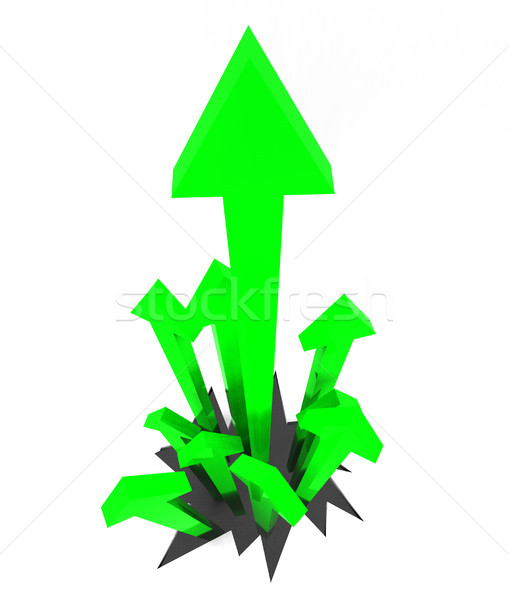 Arrows Up Represents Gain Rising And Smash Stock photo © stuartmiles