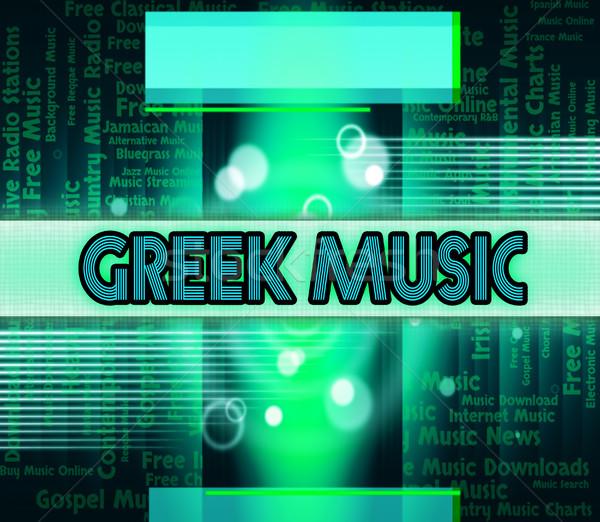 Greek Music Represents Sound Track And Greece Stock photo © stuartmiles