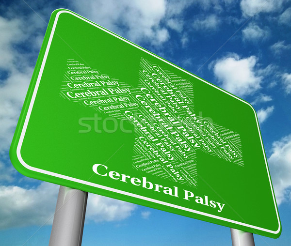 Cerebral Palsy Shows Ill Health And Ailment Stock photo © stuartmiles