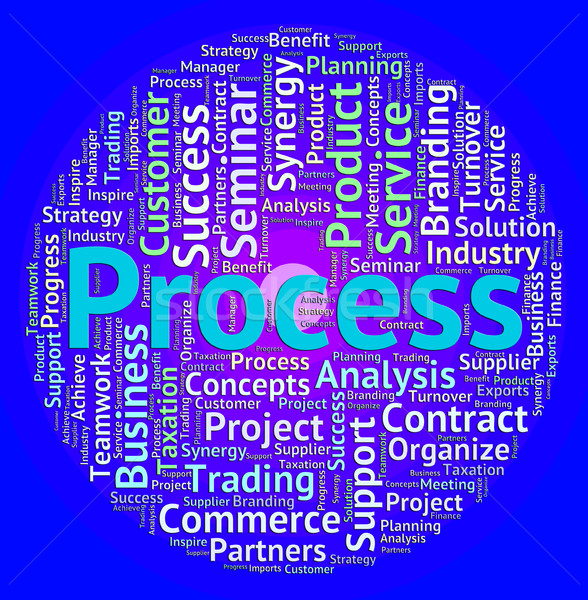 Process Word Means System Proceeding And Task Stock photo © stuartmiles