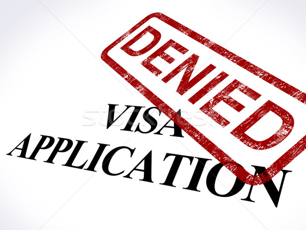 Visa Application Denied Stamp Shows Entry Admission Refused Stock photo © stuartmiles