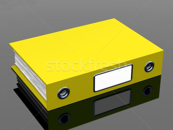 Geel bestand kantoor georganiseerd papier Stockfoto © stuartmiles