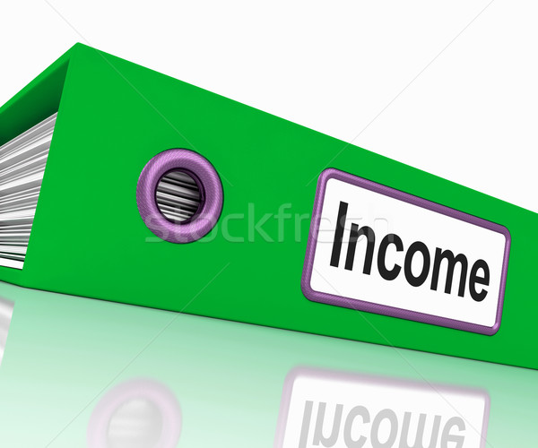 Inkomen bestand tonen inkomsten inkomen documenten Stockfoto © stuartmiles