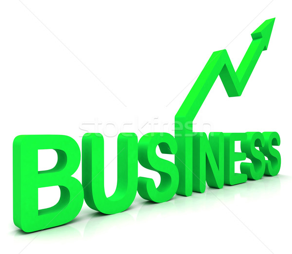 Green Business Word Shows Commerce  Stock photo © stuartmiles