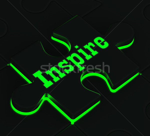 Inspire Puzzle Showing Encouragement And Inspiration Stock photo © stuartmiles