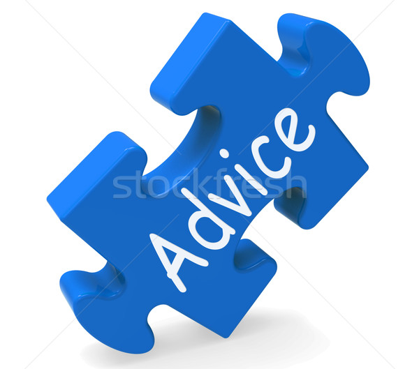 Advice Shows Support Help And Assistance Stock photo © stuartmiles