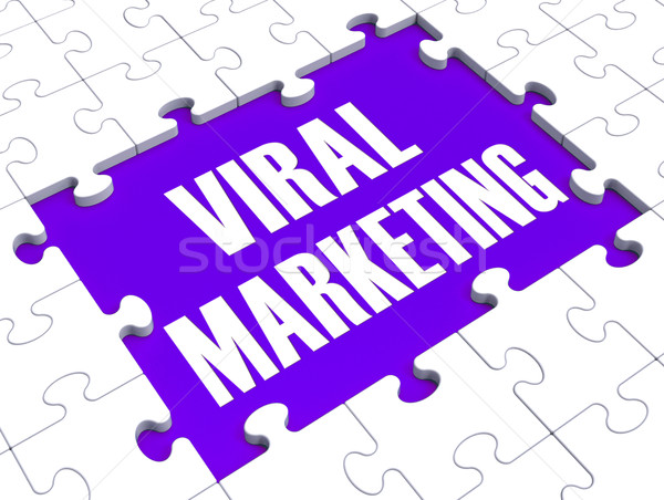 Stockfoto: Virale · marketing · tonen · reclame · strategieën · social · media